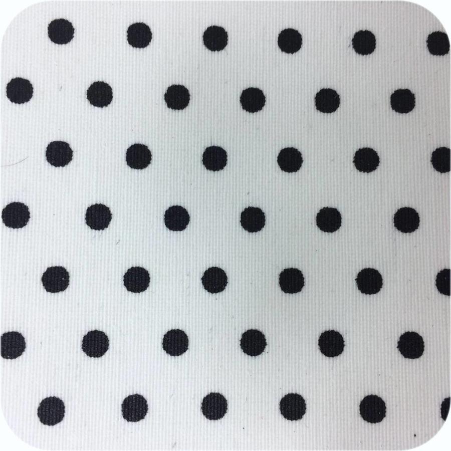 Gecoat tafelkleed wit met zwarte stippen 150 x 250 cm