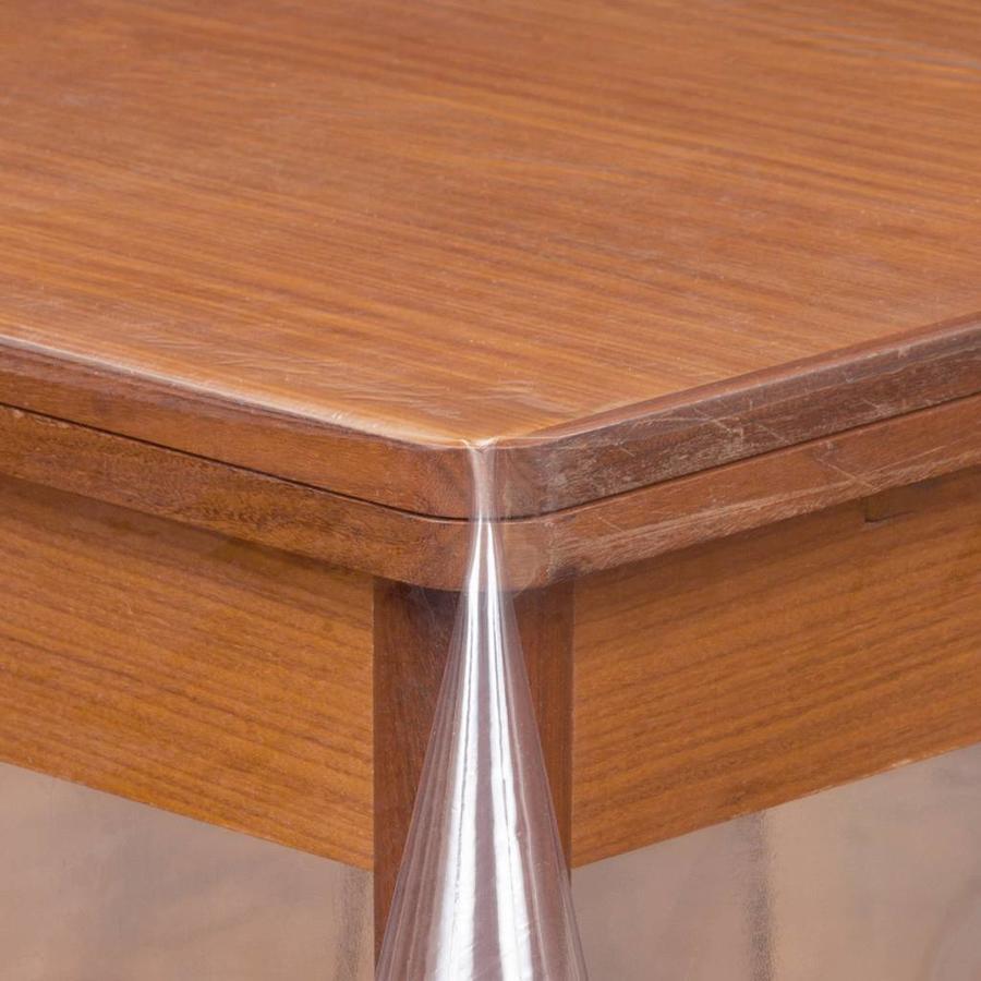 Transparant tafelzeil 3m bij 140cm gevouwen op rol