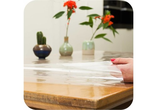 Transparant tafelzeil 3m bij 140 cm op grote rol