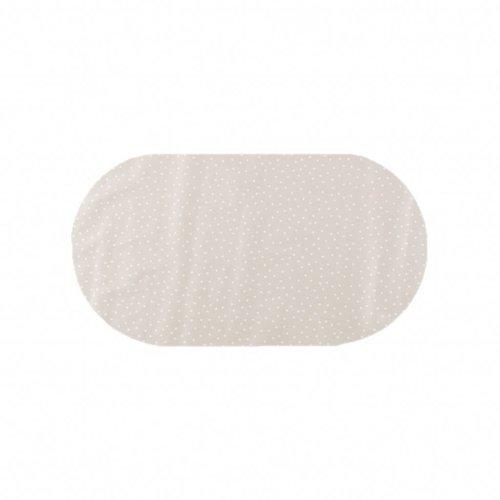 Tafelzeil Eco Ovaal Beige met witte stipjes 200 cm