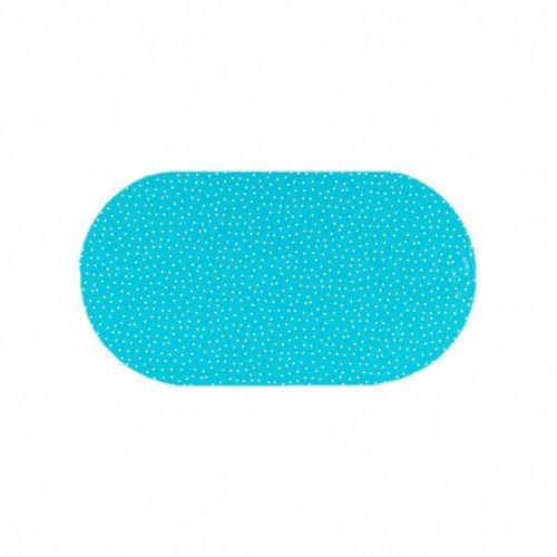 Tafelzeil Eco Ovaal Blauw met witte stipjes 200 cm