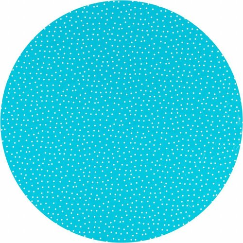 Tafelzeil Eco Rond Blauw met witte stipjes 140 cm