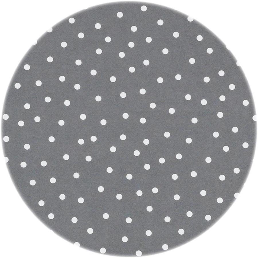 Tafelzeil Eco Rond Grijs met witte stipjes 140 cm