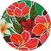 MixMamas Rond tafelzeil 120cm Fortin hibiscus Groen