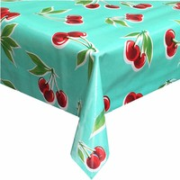 Rond tafelzeil 120cm Kersen mintgroen