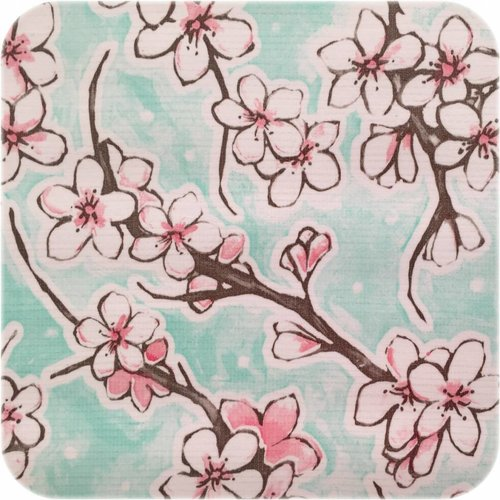 Tafelzeil 270 cm Kersenbloesem mintgroen