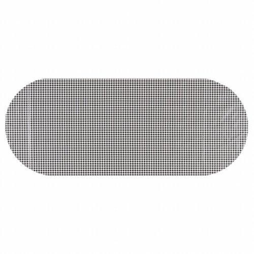 Tafelzeil Eco Pied de Poule zwart Ovaal 300 cm