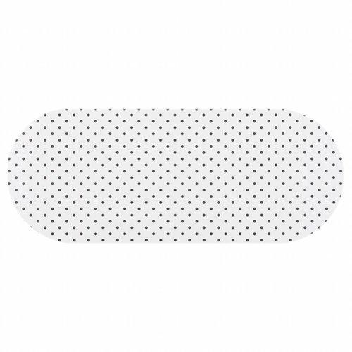 Tafelzeil Eco wit met zwarte stippen Ovaal 300 cm