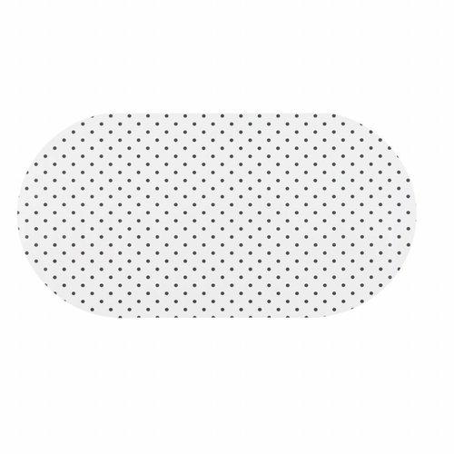 Tafelzeil Eco wit met zwarte stippen Ovaal 250 cm