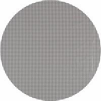 Tafelzeil Eco Rond Pied de Poule zwart 140 cm