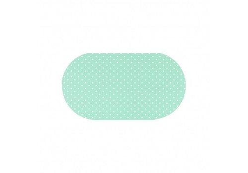 Tafelzeil Eco mintgroen met witte stippen Ovaal 200 cm