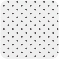 Tafelzeil Eco wit met zwarte stippen 300 cm bij 140 cm