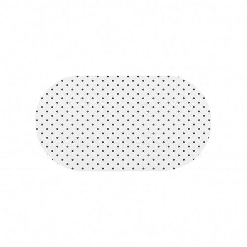Tafelzeil Eco wit met zwarte stippen Ovaal 200 cm