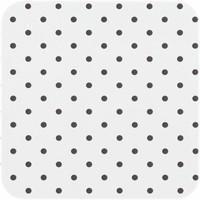 Tafelzeil Eco wit met zwarte stippen 5m bij 140 cm