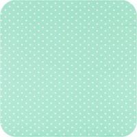Tafelzeil Eco mintgroen met witte stippen vierkant