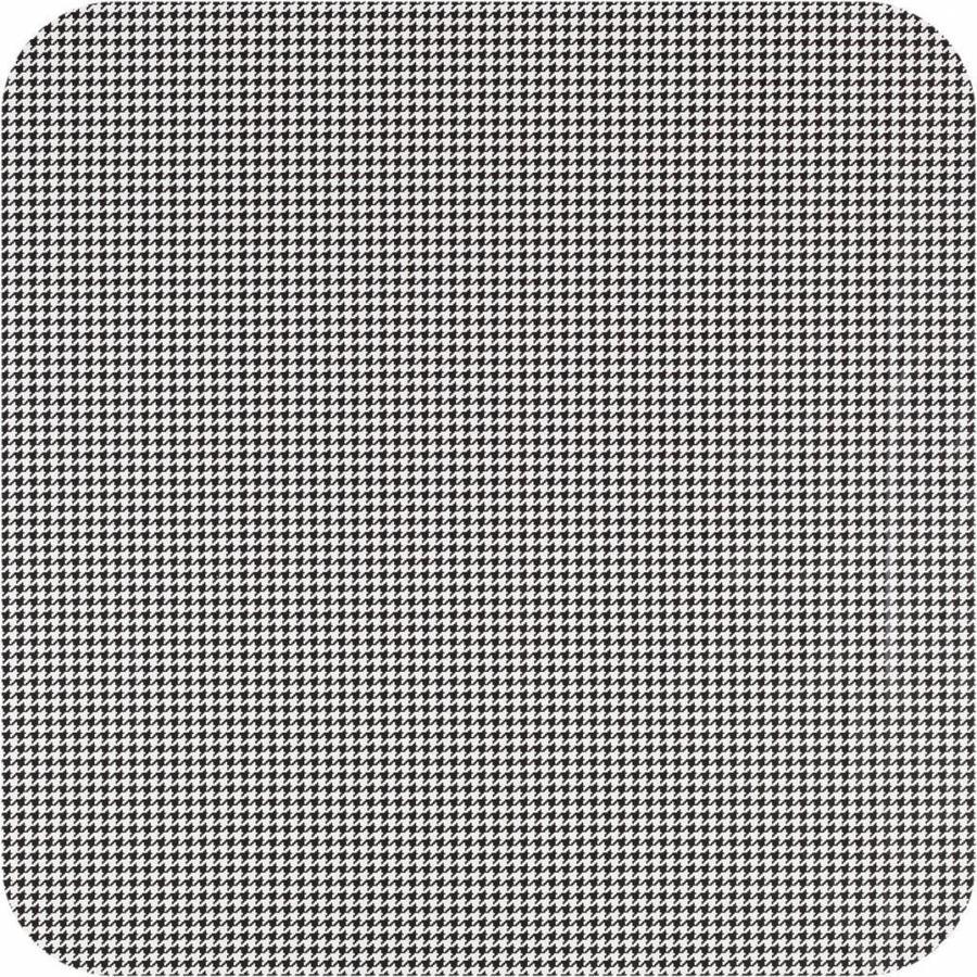 Tafelzeil Eco Pied de Poule Zwart 200 cm bij 140 cm