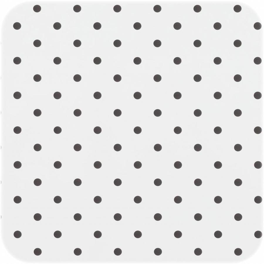 Europees Eco tafelzeil Rol 20m wit met zwarte stippen 140 cm