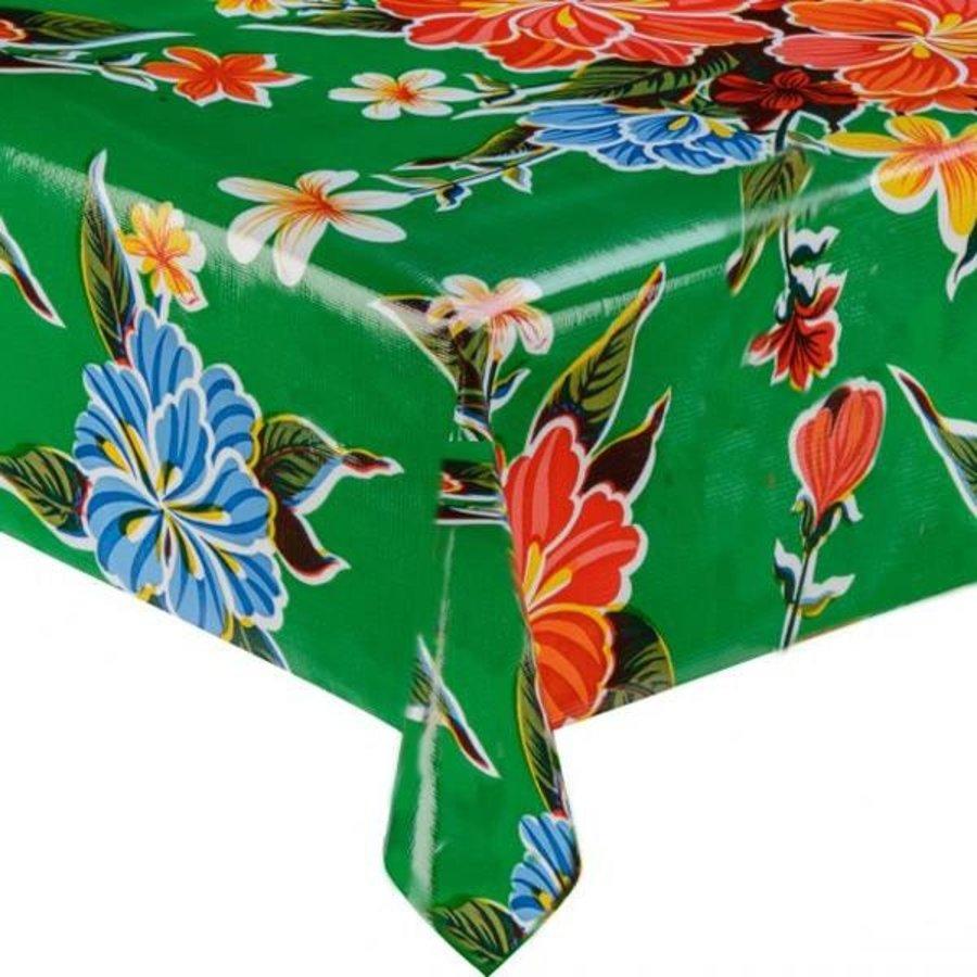 Mexicaans Tafelzeil Fortin Hibisucs - 120 x 220 cm - Groen