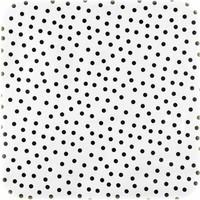 Mexicaans Tafelzeil Wit met Zwarte Stippen - 120 x 180 cm