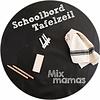 MixMamas Mexicaans Tafelzeil Rond - Ø 120 cm - Schoolbord - Zwart