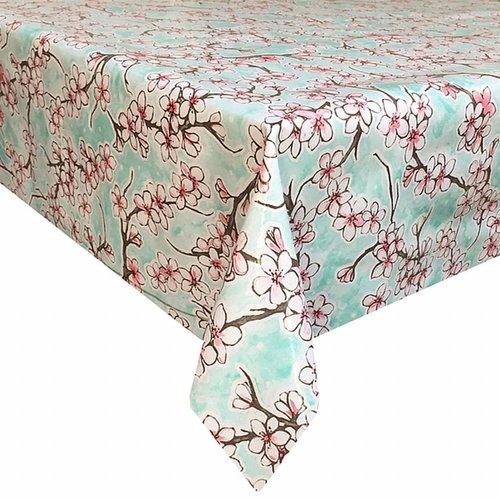 Tafelzeil Kersenbloesem - 120 x 300 cm - Rol - Mintgroen