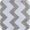 MixMamas Mexicaans Tafelzeil Zigzag - 120 x 270 cm - Zilver/Wit