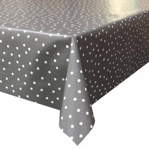 Tafelzeil Stipjes - Rol - 140 cm x 10 m - Grijs/Wit