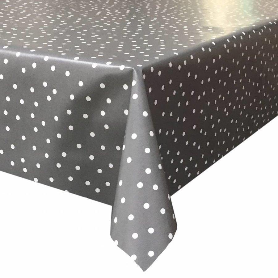 Tafelzeil Stipjes - 140 x 200 cm - Grijs/Wit
