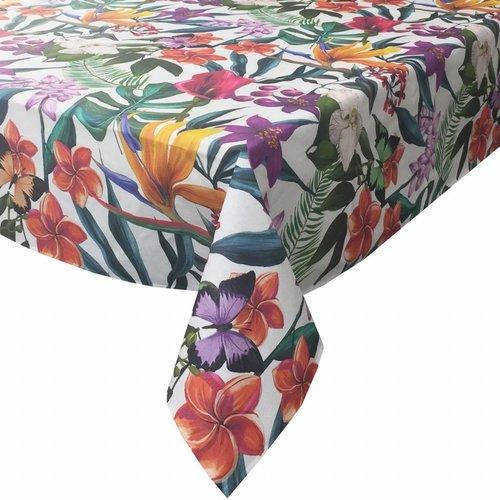 Tafelkleed Gecoat Tropical- 140 x 250 cm