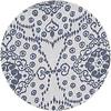 MixMamas Rond Tafelkleed Gecoat - 140 cm -Gecoat -Jeans flower - Blauw