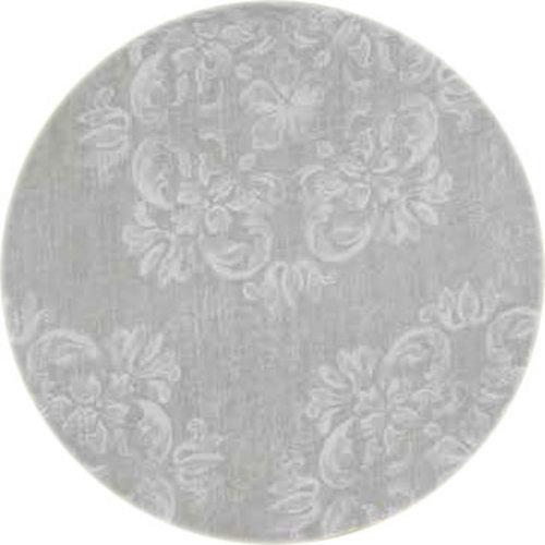 Rond Tafelkleed Gecoat - Ø 140 cm - Krijt bloem - Beige