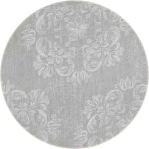 Rond Tafelkleed Gecoat - 140 cm - Krijtbloem - Beige