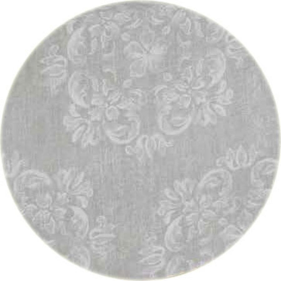MixMamas Rond Tafelkleed Gecoat - Ø 140 cm - Krijt bloem - Beige