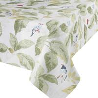 Tafelkleed Gecoat Tropische Bladeren & Vogels - 140 x 250 cm