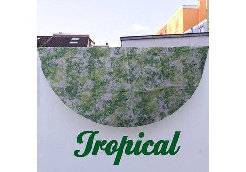 Rond Tafelkleed Gecoat - Ø 150 cm - Tropical Green Bamboo