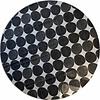 MixMamas Rond Tafelkleed Gecoat - Ø 150 cm - Grote Hippe Stippen Zwart