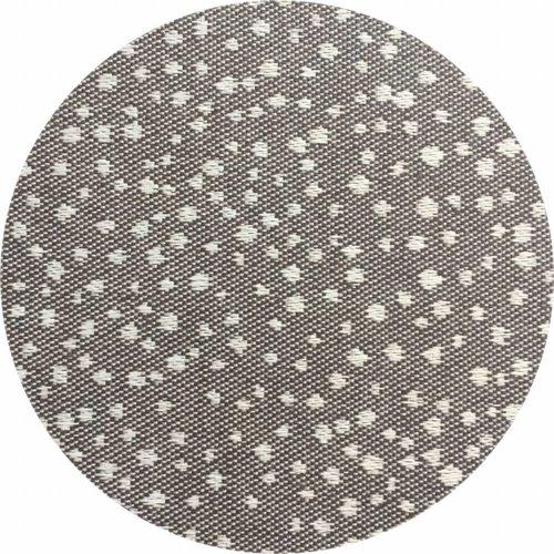 Rond Tafelkleed Gecoat - Ø 160 cm - Puntjes - Bruin/Wit