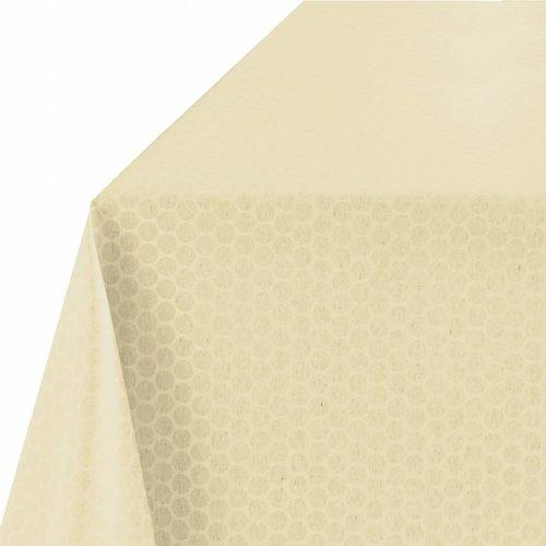 Rond Tafelkleed Gecoat - Ø 160 cm - Stippen - Beige