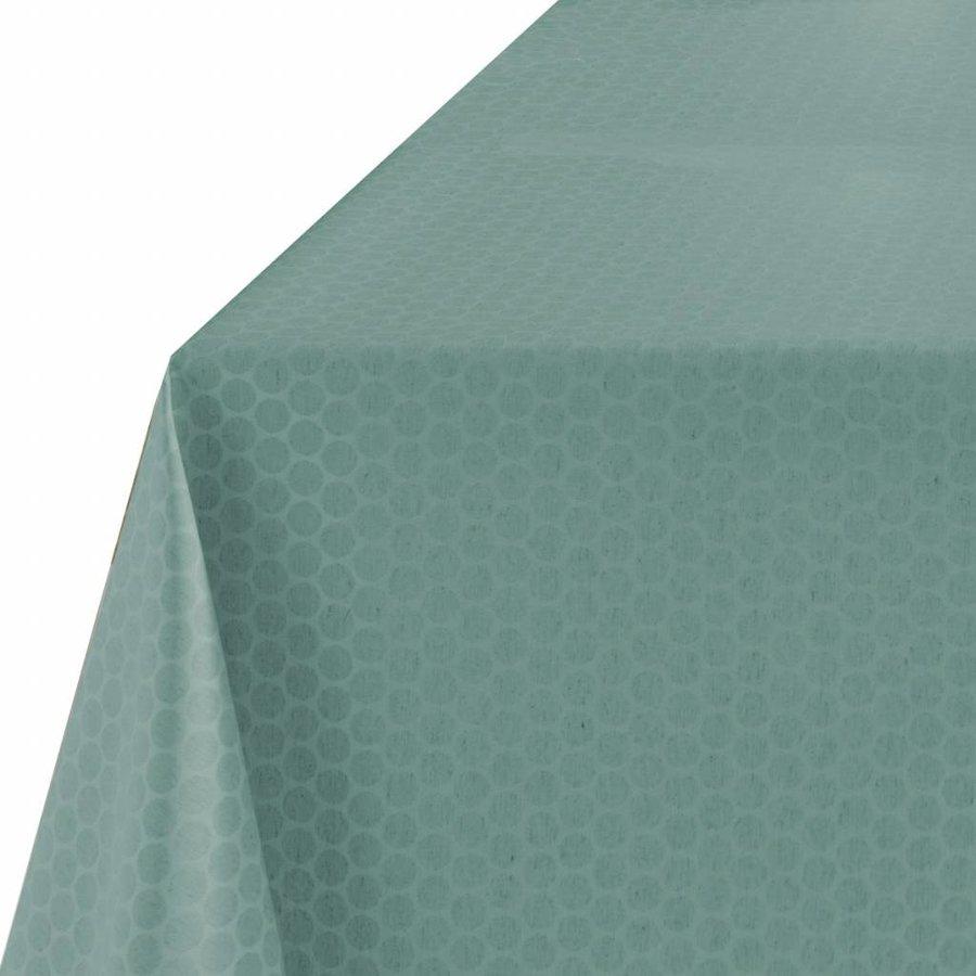 Rond Tafelkleed Gecoat - Ø 160 cm - Stippen - ton-sur-ton - Aqua Groen