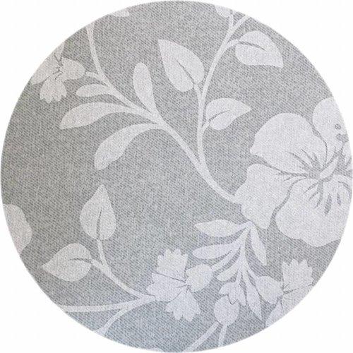 Rond Tafelkleed Gecoat - Ø 160 cm - Hibiscus - Beige