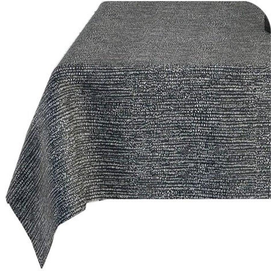 Rond Tafelkleed Gecoat - Ø 160 cm - Steenkool - Jacquard - Zwart