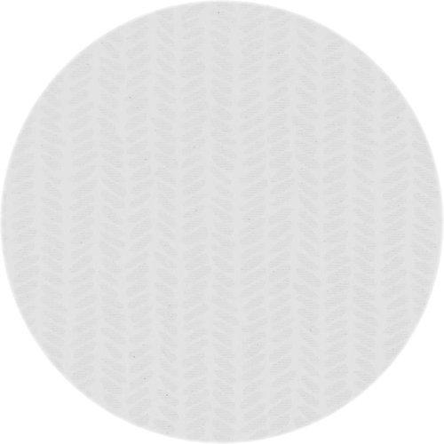 Rond Tafelkleed Gecoat - Ø 160 cm - Feuilles - Wit