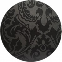 Rond Tafelkleed Gecoat - Ø 160 cm - Barok - Jacquard - Zwart