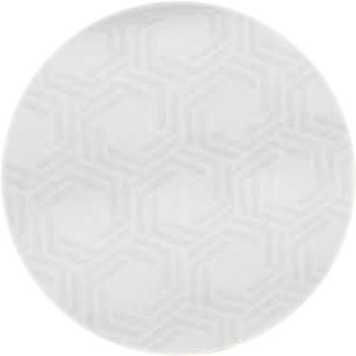 Rond Tafelkleed Gecoat - Ø 160 cm - Hexagon - wit