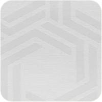 Rond Tafelkleed Gecoat - Ø 160 cm - Hexagon -wit