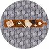 MixMamas Rond Tafelkleed Gecoat - Ø 180 cm - Kubussen - Grijs