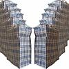 MixMamas Big Shopper Boodschappentas - 60 x 50 cm - Set van 10 - Blauw