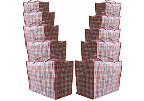 Big Shopper Boodschappentas - 60 x 50 cm - Set van 10 - Rood