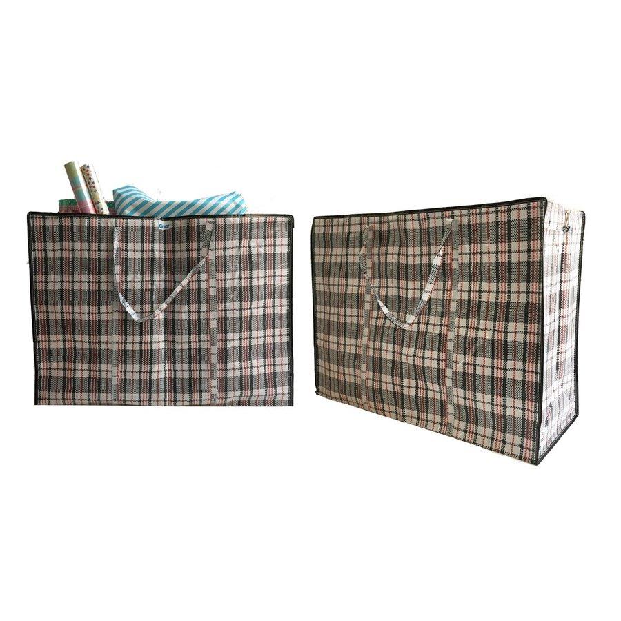 Big Shopper / Opbergtas / Waszak XL - 70x50 cm - Multipack 10 stuks - Zwart