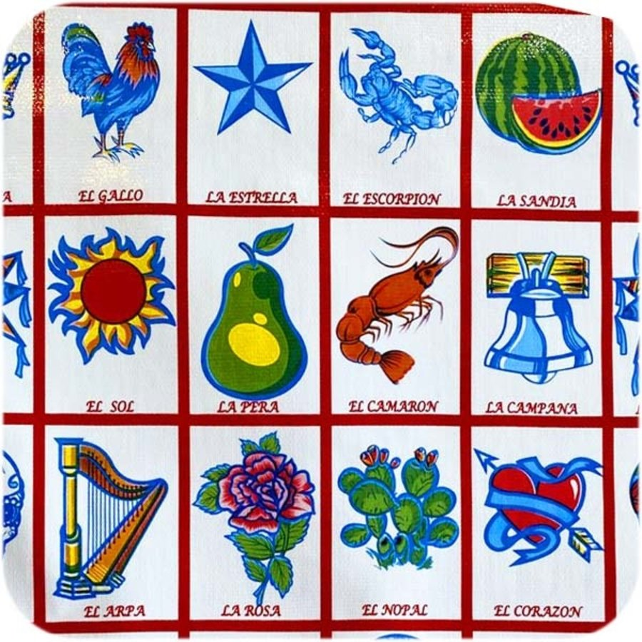 Tafelzeil Loteria - Rol - 120 cm x 11 m - Rood